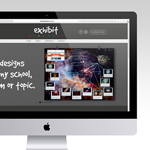 exhibit graphics web design